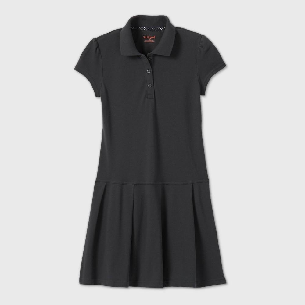 Girls Short Sleeve Pleated Uniform Tennis Dress - Cat & Jack Gray XS Top