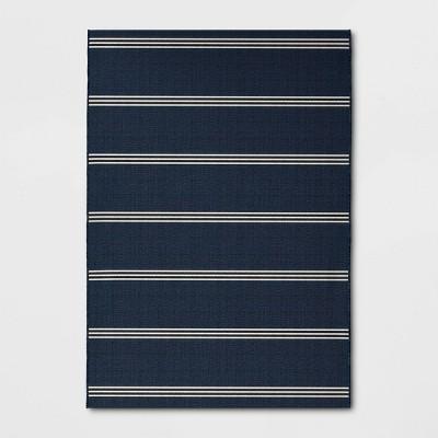 Stripe Outdoor Rug Navy - Threshold™
