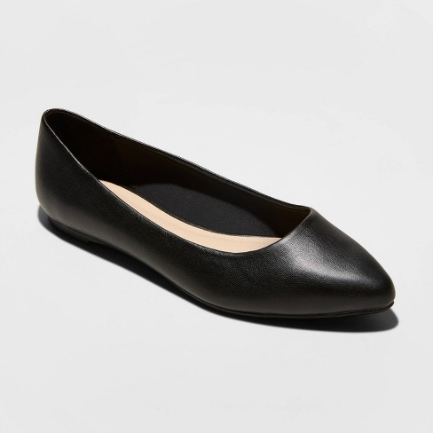 Women's Kora Microsuede Pointed Toe Ballet Flats - A New Day™ - image 1 of 3