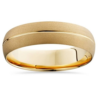 Pompeii3 Mens 14k Yellow Gold Comfort Fit 6mm Wedding Band Ring