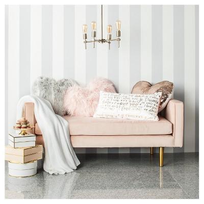 Gold Metallic Love Cream Oversize Lumbar Throw Pillow : Target