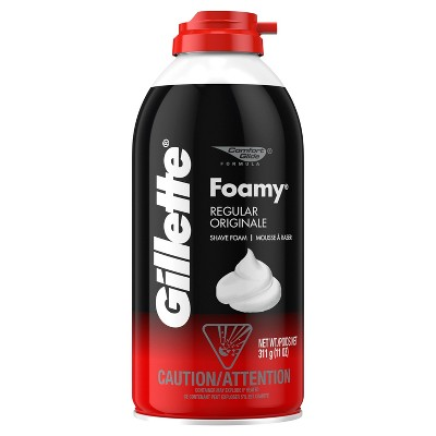 Gillette Foamy Mens Regular Shave Foam - Trial Size