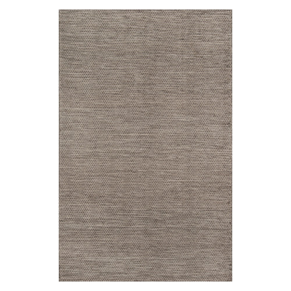 9'X12' Solid Woven Area Rug Natural - Momeni, White