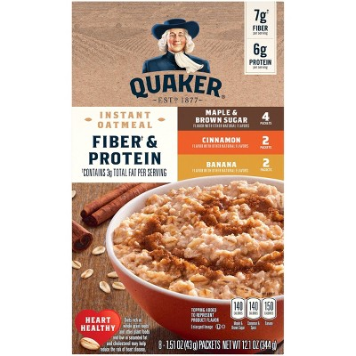 Quaker Weight Control Instant Oatmeal Variety Pack- 8pk