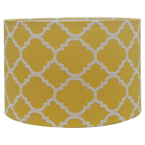 Straight Drum Flocked Ogee Lamp Shade Large - Summer Wheat - Threshold™ - image 1 of 2