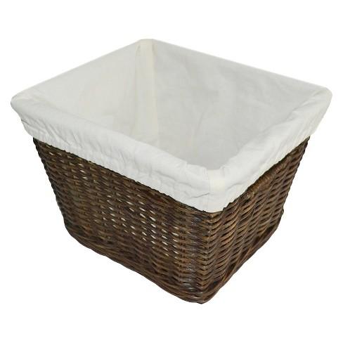 Medium Decorative Toy Storage Basket with Liner Brown - Pillowfort™ - image 1 of 1