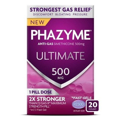 Phazyme Ultimate Gas & Bloating Relief Fast Gels - 20ct