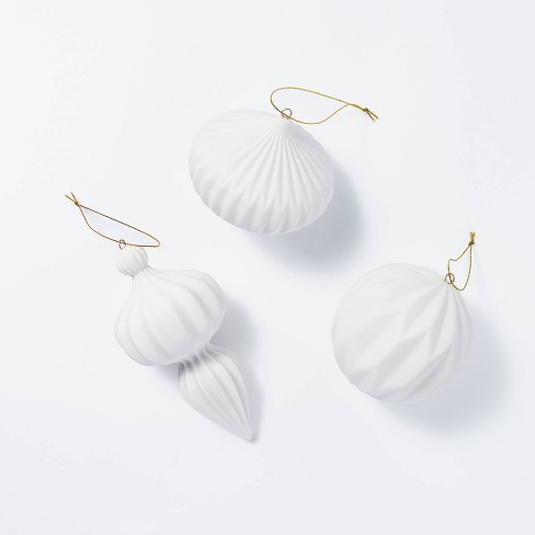 Set of 3 of Porcelain Ornaments - Threshold™ designed with Studio McGee - image 1 of 4