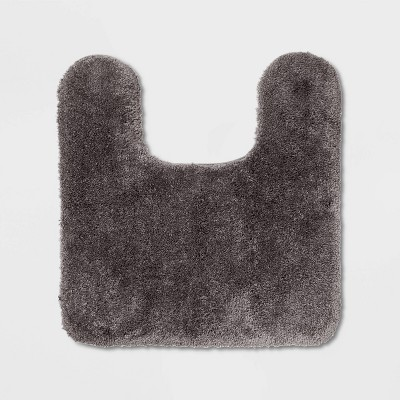 Performance Nylon Contour Bath Rug Dark Gray - Threshold™