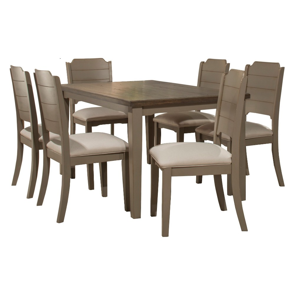 Clarion Seven (7) Piece Rectangle Dining Set with Side Chairs Distressed Gray - Hillsdale Furniture