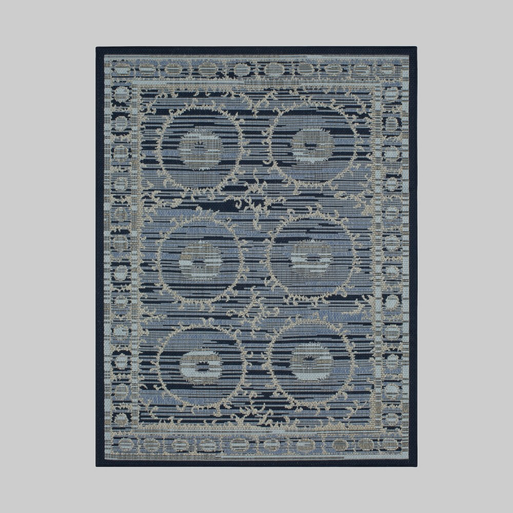 7' x 10' Suzani Outdoor Rug - Threshold, Blue