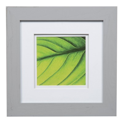 Single Image 8X8 Wide Double Mat Gray 5X5 Frame - Gallery Solutions