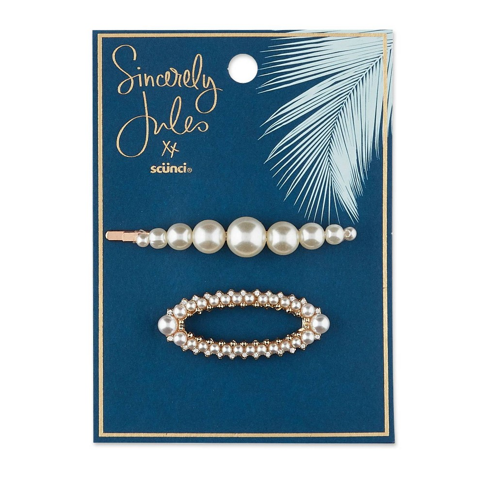 Image of Scunci Pearl Barette and Bobby Pins - 2pk