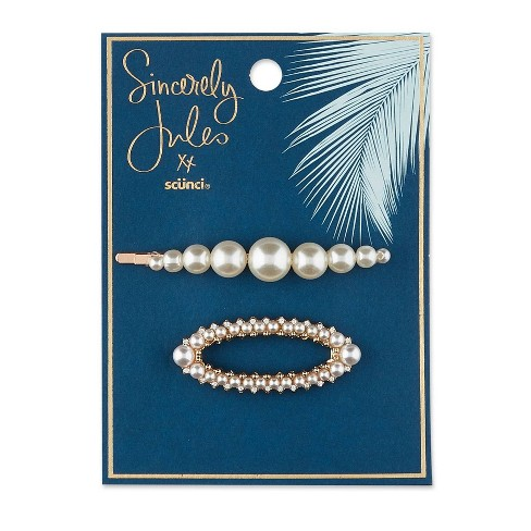 Scunci  Pearl Barette and Bobby Pins - 2pk - image 1 of 4