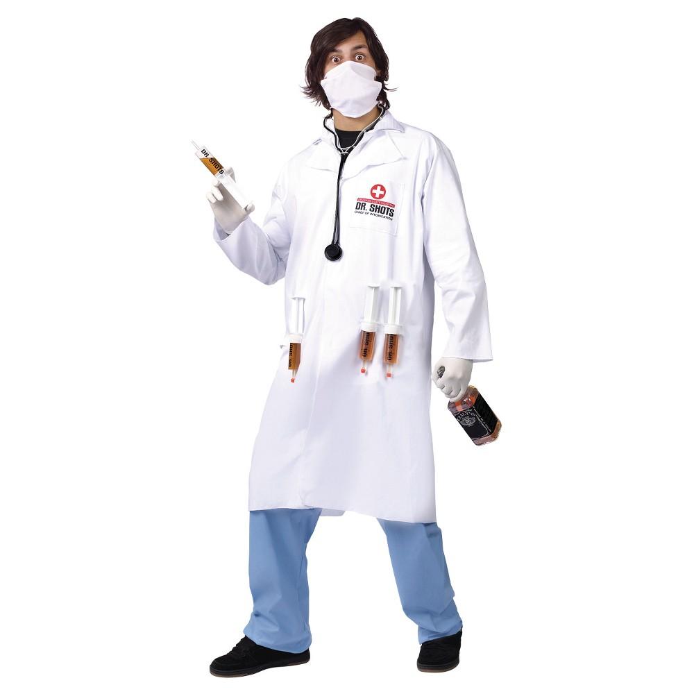 Men's Dr. Shots Costume White XX-Large, Size: Xxl