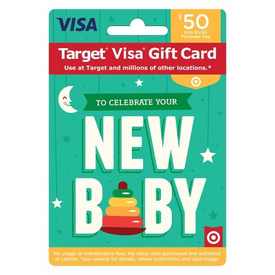 Visa New Baby Gift Card - $50 + $5 Fee