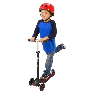 YBIKE GLX Pro Kick Scooter - Black/Red