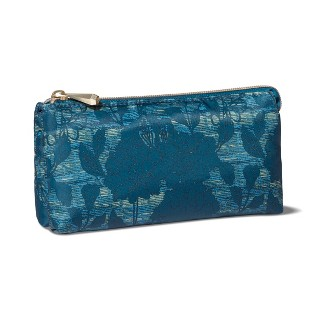 Sonia Kashuk™ 3 Compartment Compact Makeup Bag - Floral Blue