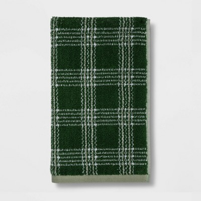 Plaid Hand Towel Green - Threshold™