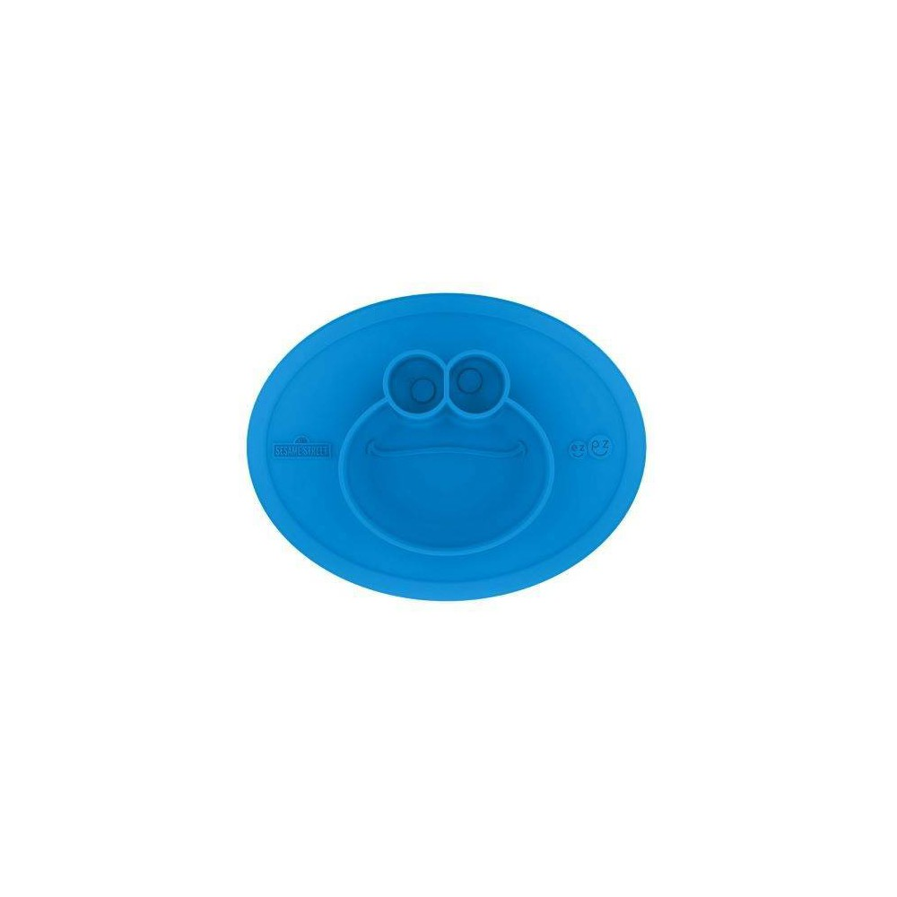 Image of ezpz Sesame Street Cookie Monster Dinnerware Mat, Blue