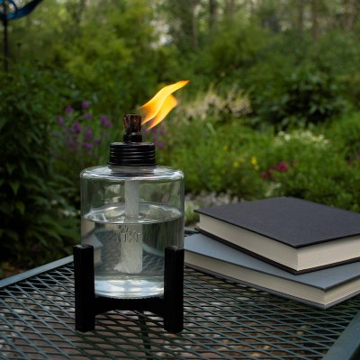 Elevated Tall Glass Tabletop Outdoor Torch - TIKI