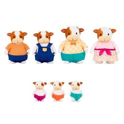 Li'l Woodzeez Miniature Animal Figurine Set - FitzMoo Cow Family