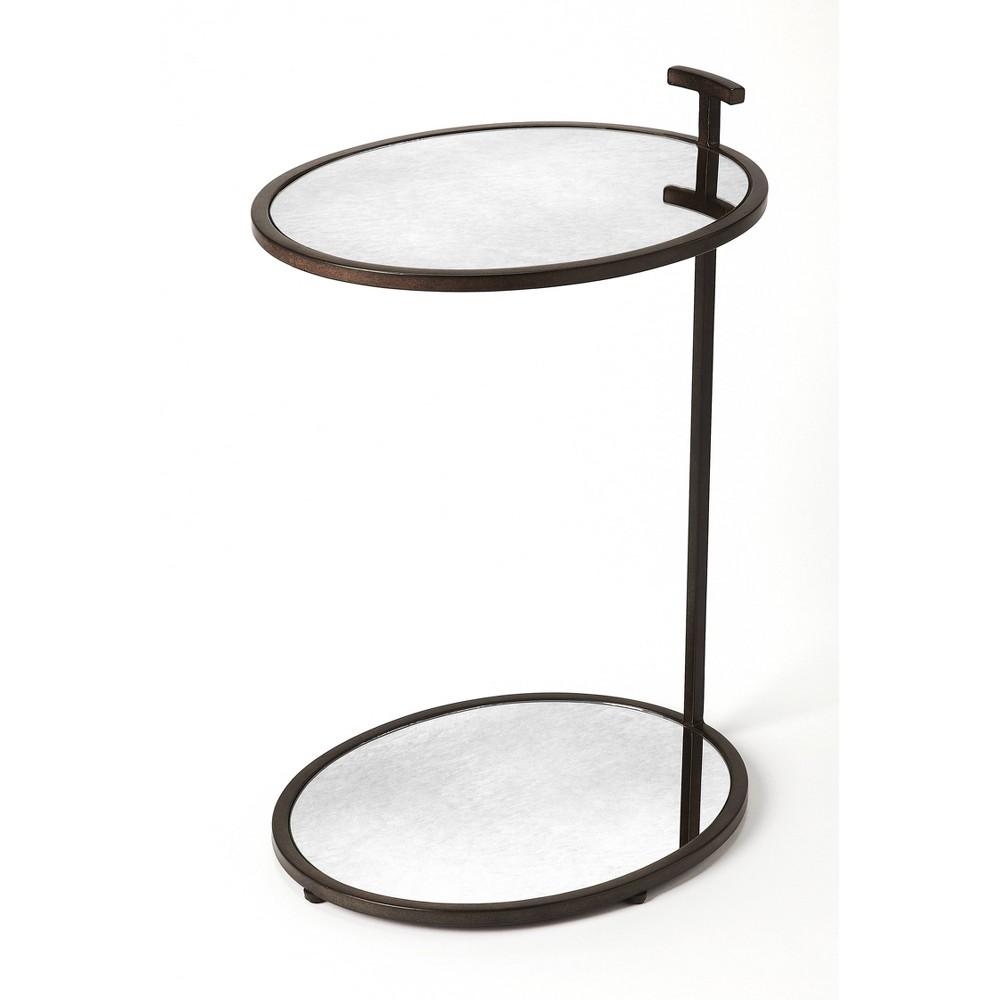 Ciro Metal & Mirror Side Table Bronze - Butler Specialty