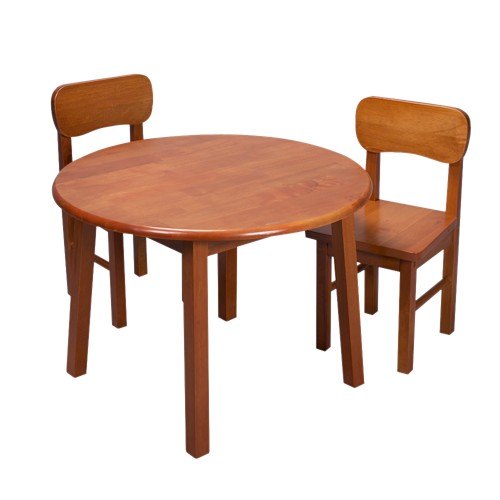 Round Table with Chairs Set - Honey