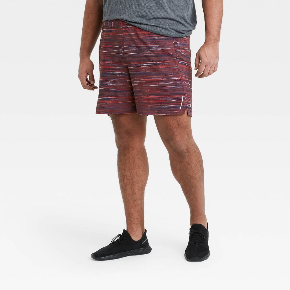 Men 39 S 7 34 Spacedye Print Unlined Run Shorts All In Motion 8482 Berry Xxl