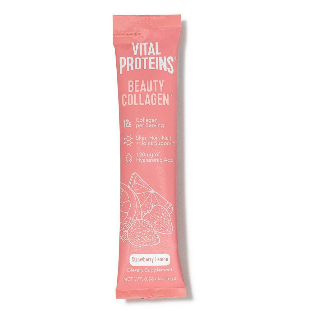 Image of Vital Proteins Beauty Collagen Strawberry Lemon Dietary Supplement - 0.56oz