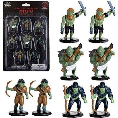 "Monster Protectors Painted Fantasy Orc Mini Figures for D&D - 1"", 8 Pieces"