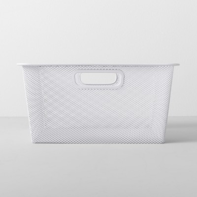 Short Metal Sweater Bin 13 W X 13 D X 6.25 H - White - Made By Design™