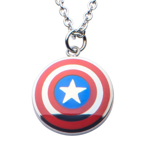"Women's Marvel™ Captain America Shield Logo Small Pendant with Chain (16"" + 2"" ext.) - image 1 of 2"