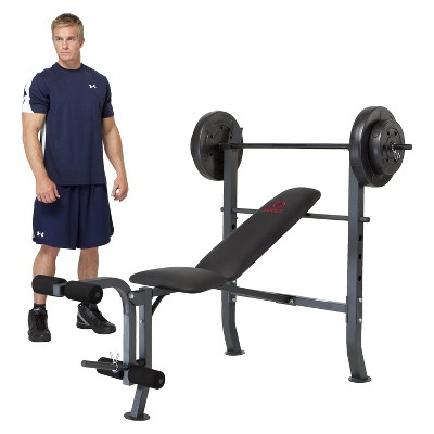 Marcy Standard Bench with 80 lb. Weight Set (MD2080)
