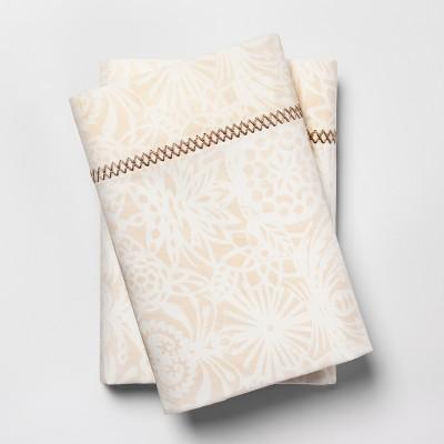 Print Percale Cotton Pillowcases (Standard)Tan - Opalhouse™