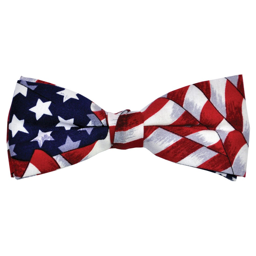 Uncle Sam Bow Tie - One Size Fits Most, Adult Unisex, Multi-Colored