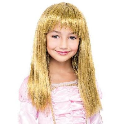 Paper Magic Group Glitzy Glamour Bob Gold Child Costume Wig