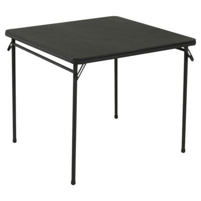 34  Vinyl Top Folding Table - Black - Cosco