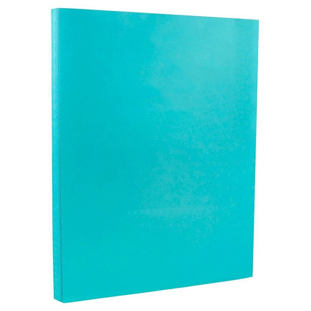 Jam Paper, Brite Hue 24lb Paper, 8.5  x 11 , 100pk - Sea Blue, Nautical Blue Jam Paper Brite Hue 24lb Paper measures 8.5 x 11 inches per sheet. This splashy colored paper is a cheerful choice for birthday parties, wedding invitations, or just brighter business paper. This pack contains a total 100 sheets! This paper is acid free and is made with 20 percent recycled materials. Perfect for promotions, crafts, and special events and is certain to stand out! Color: Nautical Blue. Age Group: Adult.