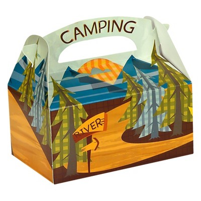 8 ct Let's Go Camping Favor Boxes