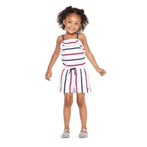 10fb4f507 Toddler Girls' Strappy Striped Scoop Neck Romper - Red/Navy - Vineyard Vines®  For Target : Target