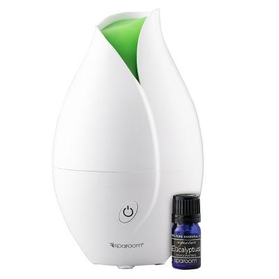 TulipMist Ultrasonic Oil Diffuser White - SpaRoom®