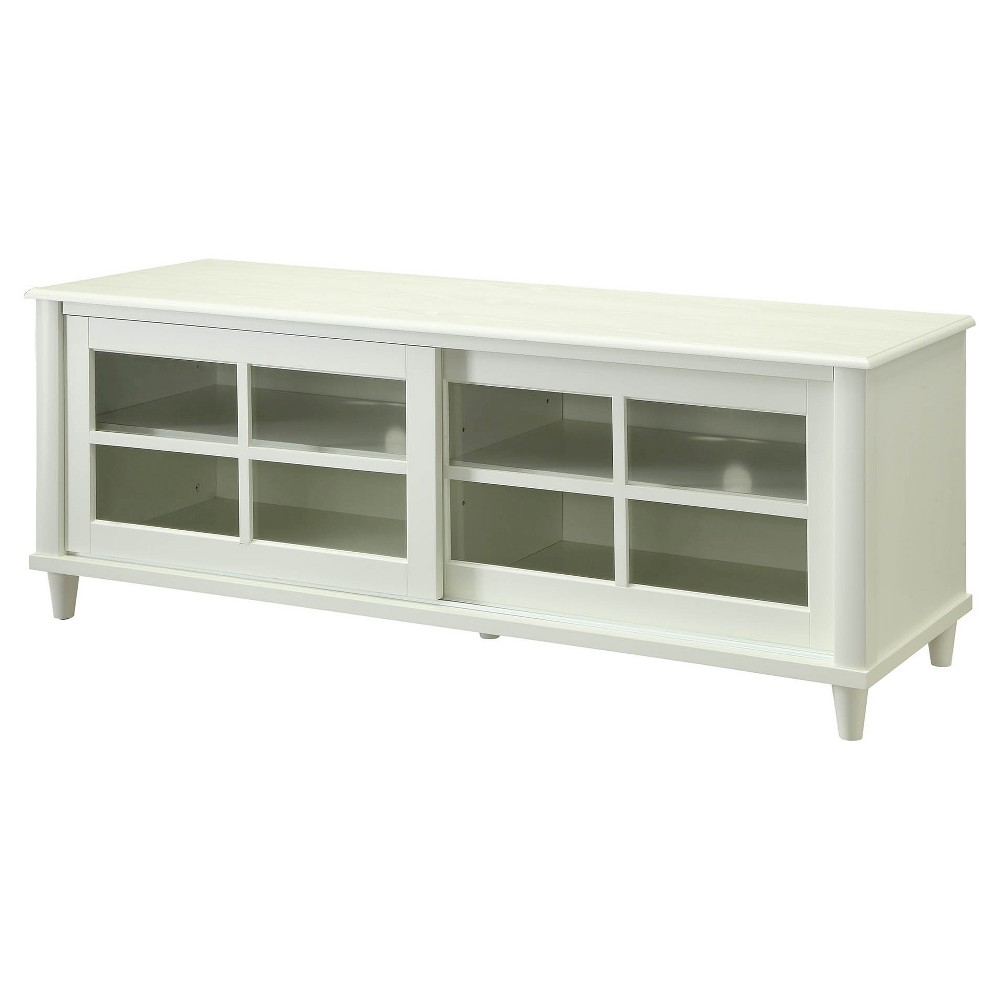 French Country TV Stand - White - 60 - Convenience Concepts