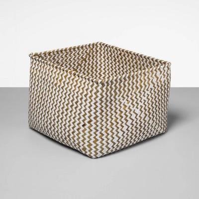 Palm Leaf Rectangular Decorative Baskets White - Opalhouse™