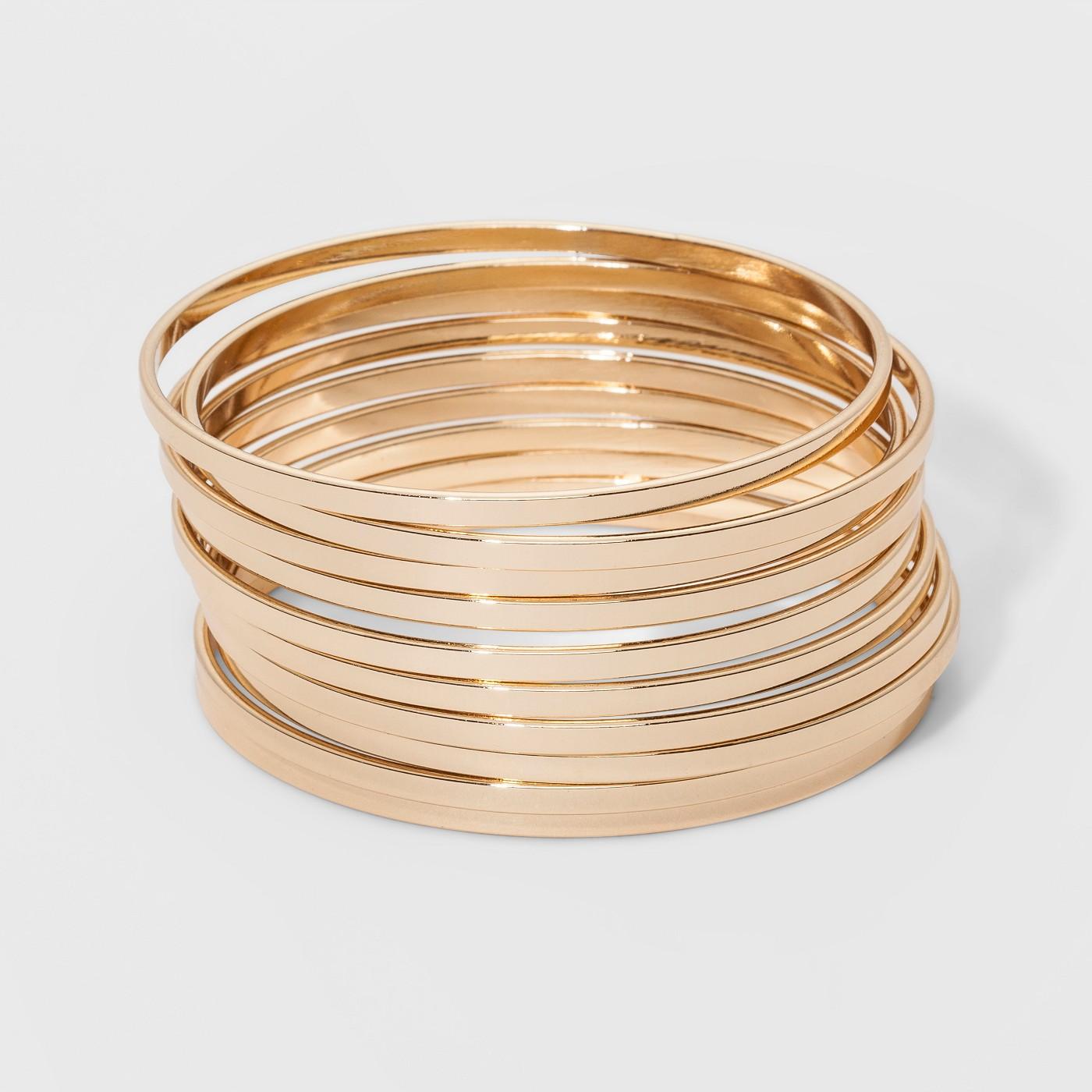 Bangle Bracelet 10pc - A New Day™ Gold - image 1 of 1