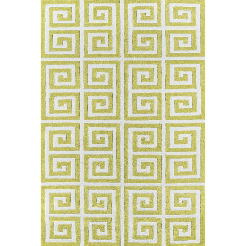 5'X7'6 Geometric Area Rug Apple Green - Momeni