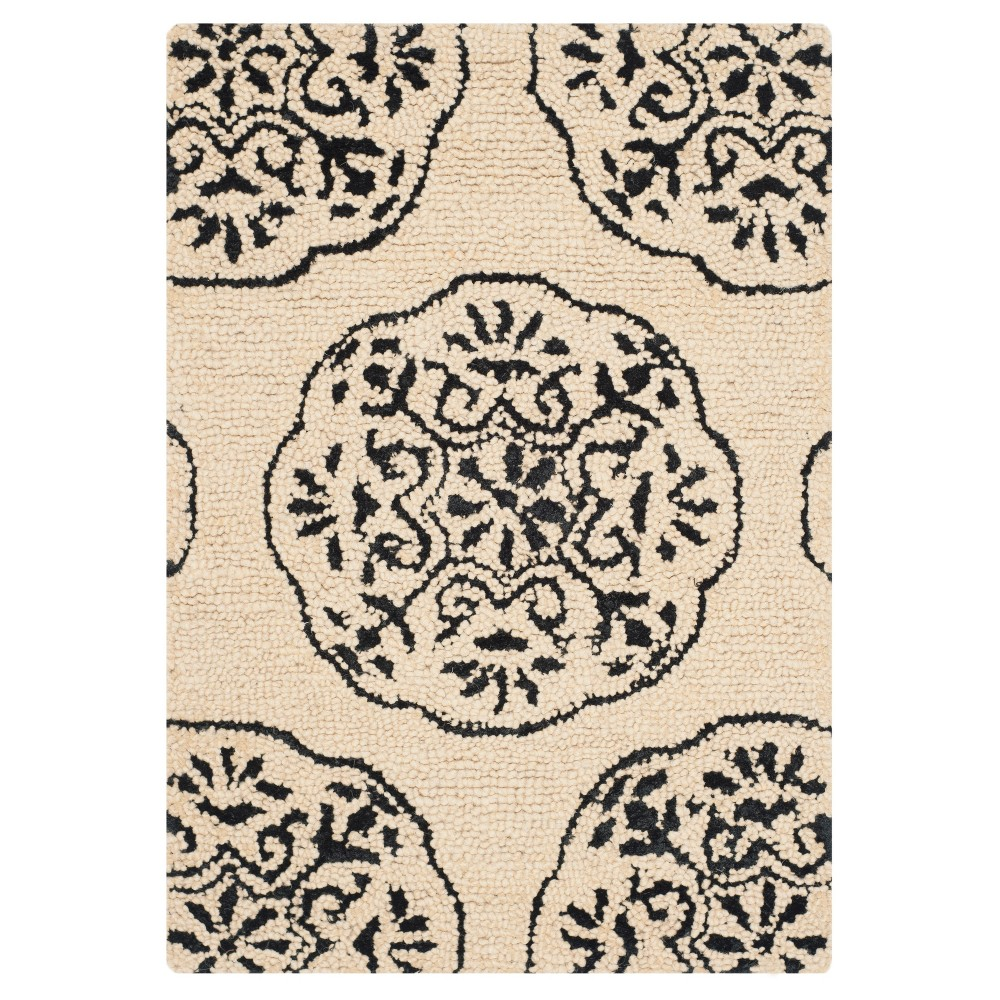 2 X3 Shapes Accent Rug Ivory Charcoal Safavieh