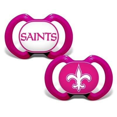 NFL New Orleans Saints Pink Pacifiers 2pk