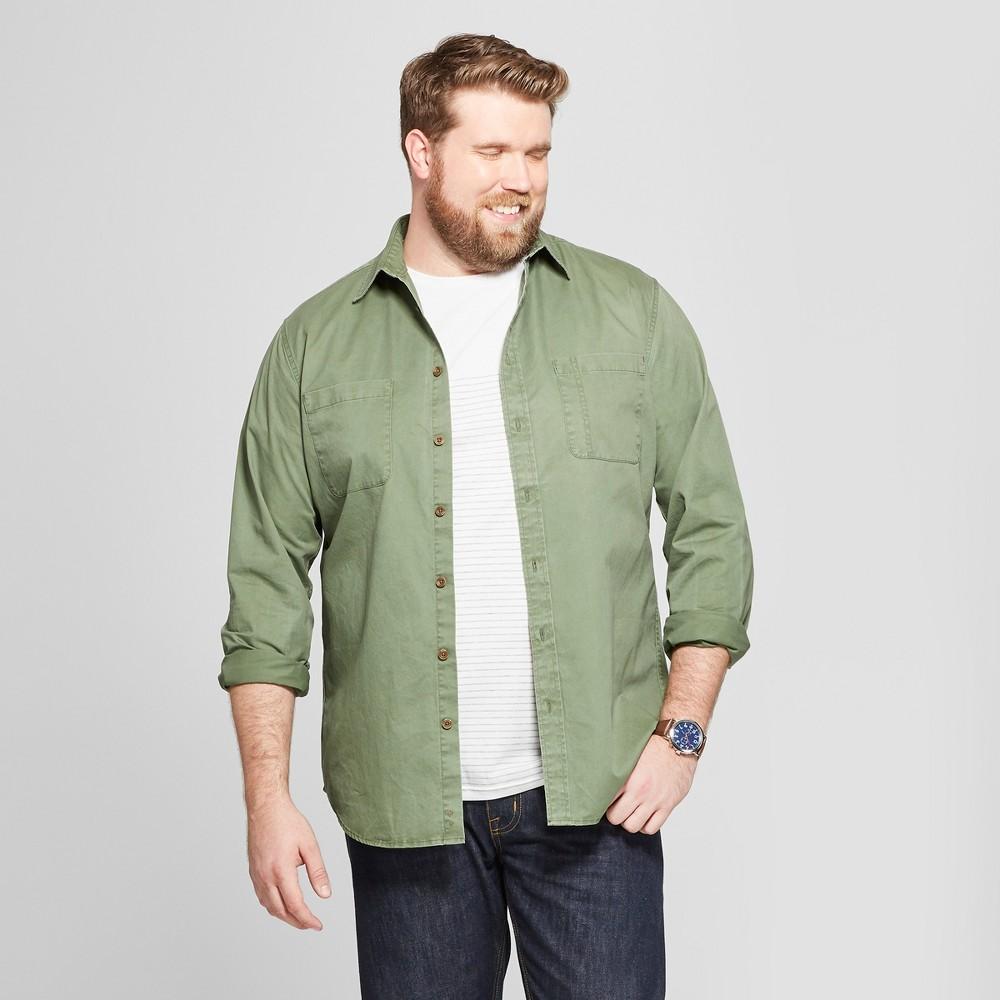 Men's Big & Tall Standard Fit Long Sleeve Denim Button-Down Shirt - Goodfellow & Co Orchid Leaf 4XB