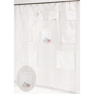 Carnation Home Fashions  9 Pockets PEVA Shower Curtain 70 x 72